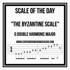 """267 Likes, 5 Comments - Chris Woodward (@chriswoodwardguitar) on Instagram: """"Scale Of The Day! - Don't forget to double Tap the image!"""""""