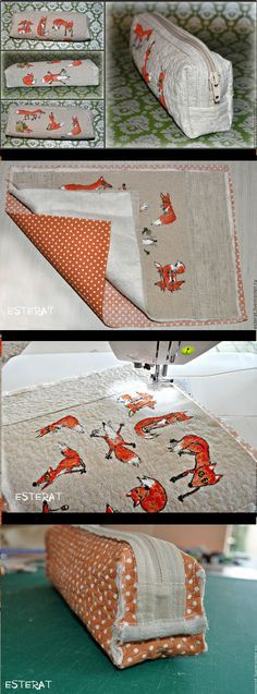 DIY Step-to-step Fox Pencil Case Tutorial. http://fastmade.blogspot.com/2016/09/diy-step-to-step-fox-pencil-case.html