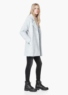 Abrigo lana solapas |