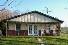 Post Frame House with Nova Brick Wainscot