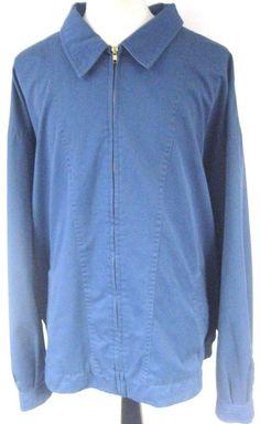 Salmon River Traders Men's Jacket Blue Full Zip SIze 5XLT Tall #SalmonRiverTraders #BasicJacket