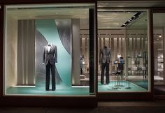 Armani Visual Merchandising - fabricated and installed by Geoff Howell Studio.