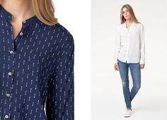 #koszula Mustang Fancy Collar Blouse dostepna w dwoch kolorach -bialym i granatowym w modne wzory. Dzieki odpinanemu kolnierzykowi szybko zmienisz swoja stylizacje!  _________ #new #newarrivals #newcollection #fw15 #fallwinter15 #online #onlinestore #shirt #mustang