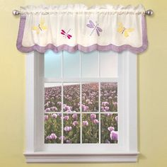 """My World Dragonfly Butterfly 70"""" Curtain Valance"""