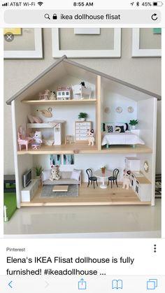 Maison de poupée Ikea – Ikea Hacks für Kinder // DIY Hacks for Kids – Chambre d'enfants Ikea Dollhouse, Girls Dollhouse, Dollhouse Kits, Victorian Dollhouse, Doll House Plans, Barbie Doll House, Barbie Furniture, Modern Dollhouse Furniture, Kids Furniture