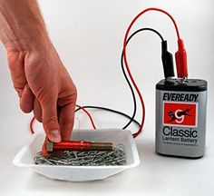Electromagnet science fair project idea: electromagnet picking up objects Electronics Science science project