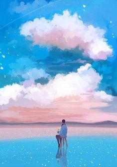 #wattpad #ngu-nhin - Các cậu muốn tìm những bức ảnh đẹp để des bìa? Vậy còn chần chờ gì nữa, vào ngay fic tớ để tìm kiếm nào ~ Wallpaper Animes, K Wallpaper, Scenery Wallpaper, Aesthetic Art, Aesthetic Anime, Sky Art, Anime Scenery, Jolie Photo, Art Graphique