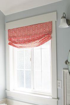 DIY FAUX RELAXED ROMAN SHADE. Bathroom Window ...