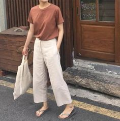 21 Trendy How To Wear Trousers Women - Outfit - Korea Fashion, Asian Fashion, Look Fashion, Trendy Fashion, Fashion Outfits, Trendy Style, Dress Fashion, Simple Style, Fashion Women