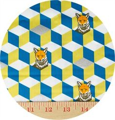 Echino, Huedrawer, SATEEN, Fox In A Box Gold