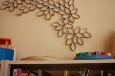 Ridiculously easy Paper Rolls Wall Art #repurpose #reuse