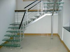 Stainless Steel Railing Designs Stand Off Glass Railing For Indoor Photos Stair Railings Modern Design Pic 16 - Stair Design Ideas Staircase Railings, Staircase Design, Stair Design, Staircase Ideas, Staircases, Glass Stairs, Glass Railing, Steel Railing Design, Window Glass Repair