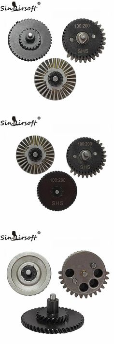 [Visit to Buy] SINAIRSOFT SHS 100:200 Reinforcement helical super torque Gear Set for Ver.2/3 AEG Gearbox Hunting Accessories gun #Advertisement
