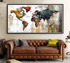 World map wall art, wanderlust print, world map poster, world map art, trav World Map Decor, World Map Wall Art, Art World, Lonely Planet, Picasso, Quotes Together, Large World Map Poster, Map Nursery, Themed Nursery