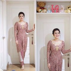 Ideas For Wedding Dresses Simple Modern Bridesmaid Kebaya Muslim, Kebaya Modern Hijab, Model Kebaya Modern, Kebaya Bali, Vera Kebaya, Batik Kebaya, Kebaya Brokat, Dress Brokat, Kebaya Dress