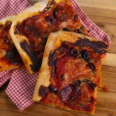 """Pepperoni Pan Pizza Mario Batali - just watched this episode on """"The Chew"""""""