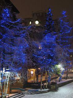 Whistler Village Christmas Lights, BC, Canada