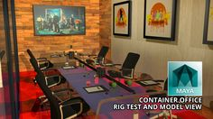 Architecture - Autodesk Maya - Container Office Rig Test (Free 3D Model ...