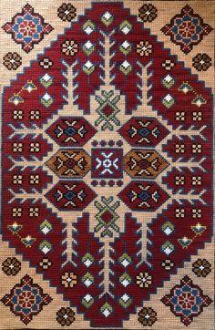 Palestinian Embroidery, Crossstitch, Cross Stitching, Blackwork, Needlepoint, Bohemian Rug, Folk, Carpet, My Favorite Things