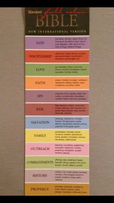 Bible color coding
