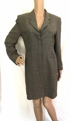 Max Mara Taupe Long Wool Blend Jacket/Blazer Size 6 - EUC #MaxMara #Blazer