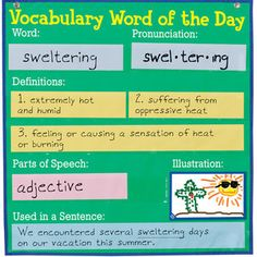 Vocabulary Word Of The Day Pocket Chart™