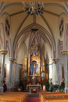 Sacred Heart Catholic Church Altar Sedalia, MO by tvbare, via Flickr