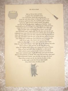 The Wiccan Rede Book Of Shadows Page  £1.99