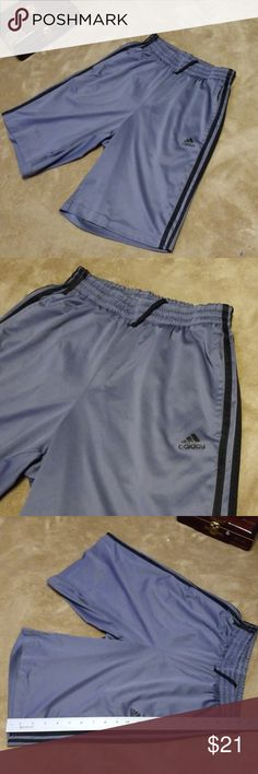 2a0c4e4fe6 ADIDAS boys shorts Gray with black trim See pics for measurements Excellent  condition. Smoke free