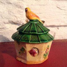 Antique Conserve/Mustard Pot/ Unusual by MerryLegsandTiptoes