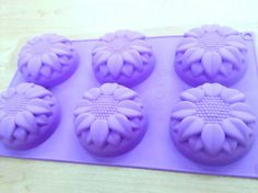 B003 6-cavity Sunflower Soap Silicone molds moulds by EstherSoap