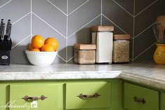 DIY Kitchen Backsplash Ideas that Are Easy and Inexpensive DIY Kitchen Backsplash Ideas that Are Easy and Inexpensive Easy DIY Herringbone Tile Painted Backsplash Paint Backsplash, Beadboard Backsplash, Travertine Backsplash, Blue Backsplash, Kitchen Paint, Kitchen Backsplash, Kitchen Decor, Kitchen Storage, Inexpensive Backsplash Ideas