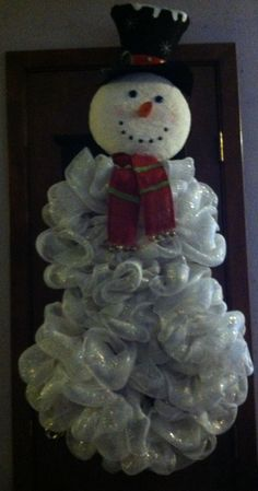 My Snowman Wreath (on small wreath form)   Things I Have Made ...