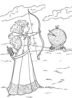 Brave Coloring Pages Merida - Coloring Ideas Cool Coloring Pages, Cartoon Coloring Pages, Printable Coloring Pages, Free Coloring, Adult Coloring Pages, Coloring Pages For Kids, Coloring Sheets, Coloring Books, Disney Princess Coloring Pages