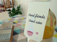 Petites étiquettes pour bouteilles de vin ! :) #diy