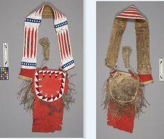 bandolier bag ca 1850 from G K Warren. NMNH