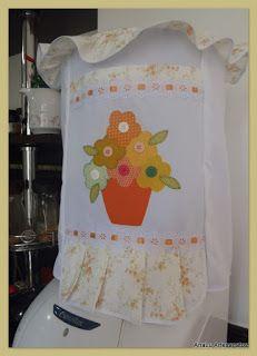 """AnaLu Artesanatos: Capa para galão de água """"Vaso com Flores"""""""