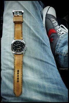 Panerai strap, watchstraps, Watchband, leatherstrap, from Gunny Straps Panerai Straps, Watch Bands, Watches, Leather, Fashion, Accessories, Wristwatches, Moda, Fashion Styles