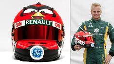 I was a fan before. I am now a biggest fan! Keikki kovalainen's angry birds F1 helmet