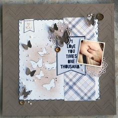 """I Love You Times One Thousand"" by Brynn Marie, as seen in the Club CK Idea Galleries. #scrapbook #scrapbooking #creatingkeepsakes"