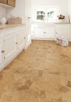 Brilliant Affordable Cork Flooring from Kitchen Design - Ideas and Picture