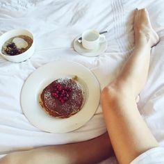 THIS JUST INN | Sometimes we need a little extra time in bed. MIght as well have some pancakes too. Photo: emshelx