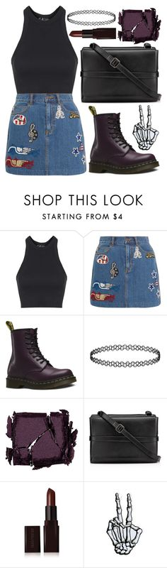 """""""× paint the sky, make it yours ×"""" by black4ever ❤ liked on Polyvore featuring Topshop, Marc Jacobs, Dr. Martens, Surratt, Christian Louboutin and Laura Mercier"""