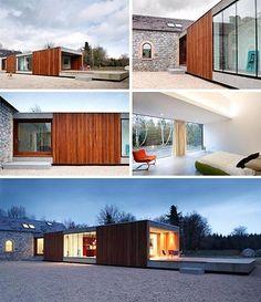 Historic Farm House Building + Modern Home Addition =   Dornob dornob.com/wp-content/uploads/2009/09/modern-minimalist-home-addition.jpg