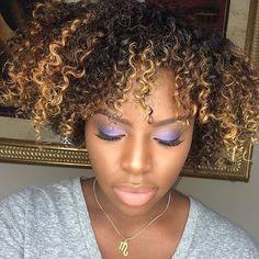 Hair2Mesmerize |  @justkelseyjanae , Purple eyes #Hair2mesmerize...