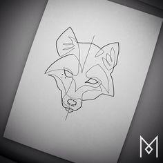 """Commission Work #fox #moganji #singleline"""