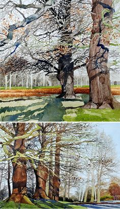 Ian Sidaway watercolour trees