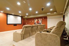 Movie screening room at The Residences at Vinings Mountain North Atlanta, Room Screen, Mountain Living, We Movie, Apartments, Relax, Luxury, Furniture, Home Decor