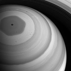 Unusual photos of Saturn's north pole captured by Cassini probe