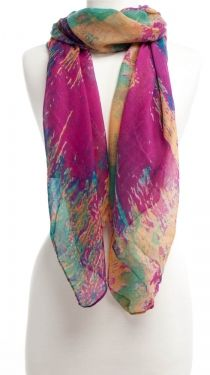 Pick a color.. any color.  Fall Fashion  Soft Feel Printed Poly, Multi Brights
